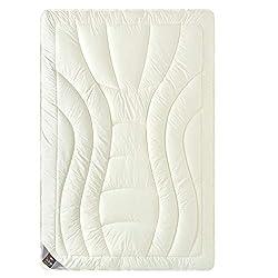 sei Design Wolle Duo-Bettdecke Premium Qualität mit feinste Schurwolle gefüllt - 135x200 extrawarm. Füllung besteht aus Zwei Lagen - Beste Wärmeisolation. Bezug - feiner Mako-Satin 100% Baumwolle