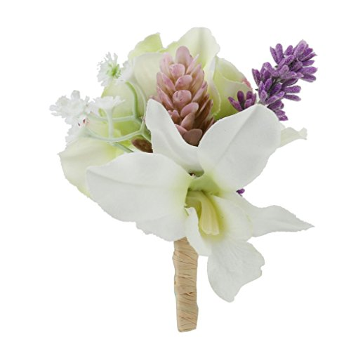 Imported Artificial Corsage Flower Brooch Pin for Bridal Groom Wedding Accessories