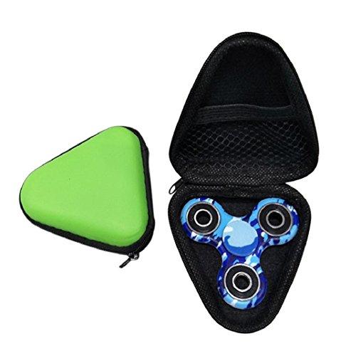 Preisvergleich Produktbild Lanspo Staubdichte Tasche Box Fall für Fidget Hand Spinner EDC Fidget Spinner Fokus Fingerspitze Gyro Toys Paket Tasche (Grün)