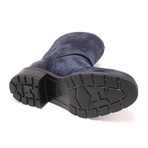 4790G stivale donna blu HOGAN h 083 tronchetto montone sott mont scarpa boots sh Blu