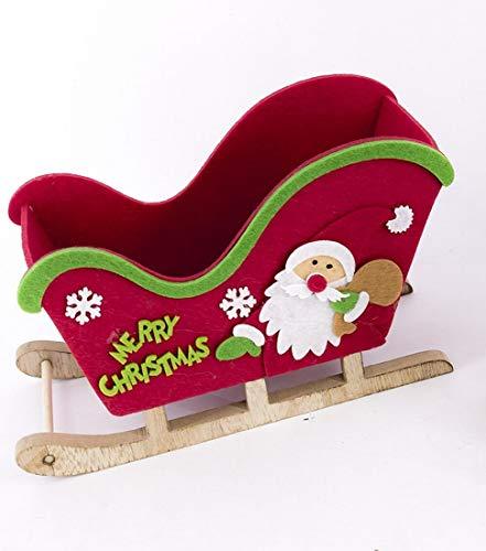 gerimport Dekorativer Weihnachtsschlitten, 19 cm
