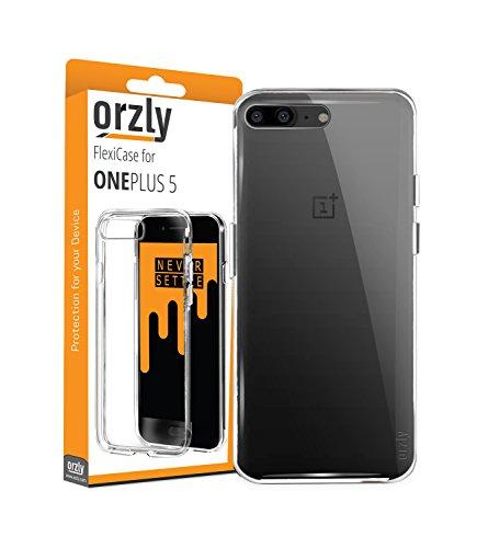Funda para el OnePlus 5, FlexiCase de Orzly para el OnePlus 5 – Carcasa Flexible TRANSPARENTE [Diseño delgado] Protección [Anti-Arañazos] para el Nuevo Oneplus 5 2017