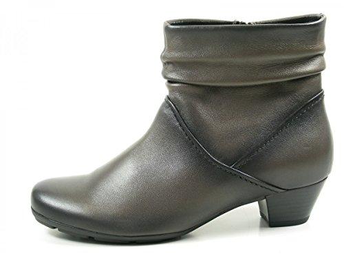 Gabor 55-637 Sapatos Femininos Ankle Boots Ankle Boots Cinza Melhor Montagem