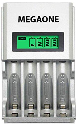 Chargeur rapide piles universel batterie rechargeable économique Ni-MH/Ni-Cd , AA/AAA automatique polyvalent Écran LCD intelligent Ultra léger multifonction intelligence artificielle