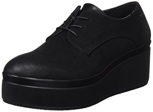MTNG Stari, Zapatos de Cordones Oxford Mujer, Negro Star Negro/Metalik Negro, 38 EU