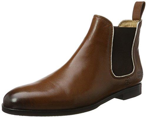 Melvin & Hamilton Damen Susan 10/R Chelsea Boots, Braun (Salerno Woody/Binding Metallic, Ela. Brown, Hrs), 38 EU