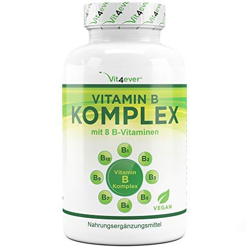 Vit4ever® Vitamin B Komplex 500 Tabletten - Alle 8 B-Vitamine in 1 Tablette - Laborgeprüft - Vitamin B1, B2, B3, B5, B6, B12, Biotin & Folsäure - Premium Qualität - Vegan