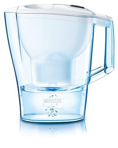 Brita Aluna Frosted - Jarra con filtro, color blanco capacidad 2.4 L