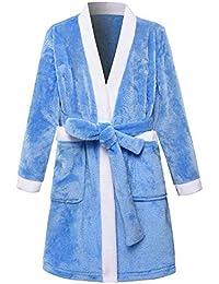 JZLPIN Chicas Batas de Baño para niños Kimono Robes Franela Bata Chicos Ropa ...