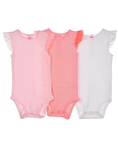 Carter's 3 Pack Baby Sommer Spieler Body Einteiler Mädchen girl (50/56, rosa) (Carters-bodys Mädchen)