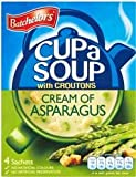 Batchelors Cup a Soup with Croutons, Cream of Asparagus (4 Sachets) - 117g