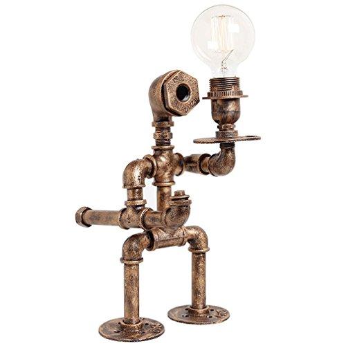 GRFH Lámpara industrial retro de la lámpara del tubo del agua del hierro del desván