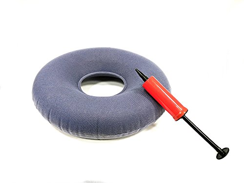 Acuario inflable Donut cojín en forma de anillo (reduce la presión ideal para personas de las hemorroides y pilas, para el coxis dolor, Post natal y Post cirugía tamaño: 40x 11cm