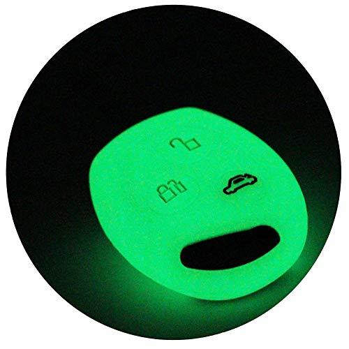 Schlüssel Hülle FF für 3 Tasten Auto Schlüssel Silikon Cover von Finest-Folia (Nachtleuchtend) -