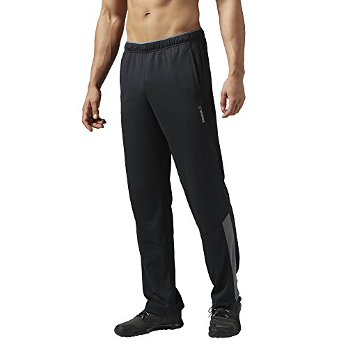Reebok Wor Oh Knit Pant - Pantalón largo para hombre, color negro, talla XXL