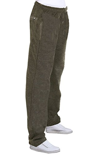 Carabou Hommes Ourlet Ouvert Gym Course Sweat Pantalon De Survêtement Bas Survêtement Anthracite