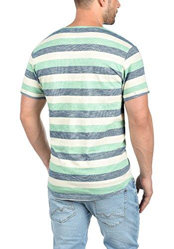 !Solid Thicco Herren T-Shirt Kurzarm Shirt Rundhalsausschnitt Aus 100% Baumwolle Creme de Menthe (3017)