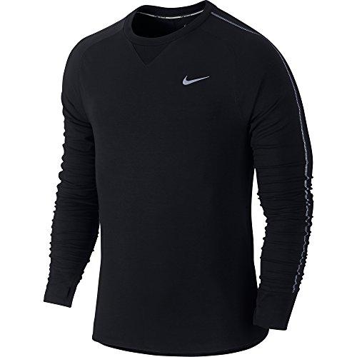 NIKE Herren Langarm Shirt Dri-Fit Sprint Crew Black/Reflective Silver