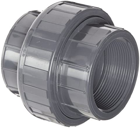 """Spears Raccord de tuyau en PVC, Union avec joint torique EPDM, DE Planifier 80, NPT femelle, 1/4"""", 1"""