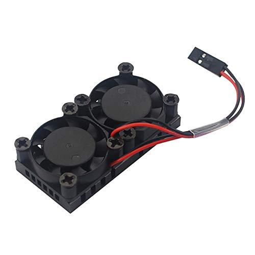 Ingeniously Dual Kühler für Raspberry Pi 4 Generation Kühler 5V Dual Kühlerlüfter mit Wärmeleitkleber