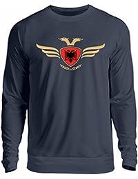 Hochwertiger Unisex Pullover - Albanien Fahne Fussball Fanshirt Albania Flagge Albanischer Adler Albanien Wappen