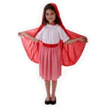 Children - Disfraz de Caperucita Roja infantil, talla 10 - 12 años