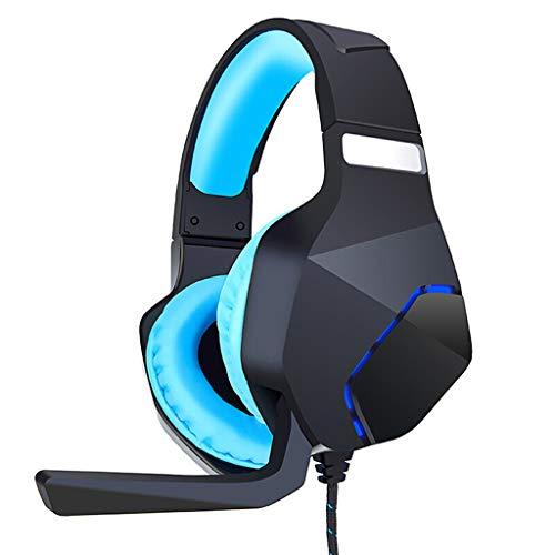 Stereo-Gaming-Headset für Xbox One PS4-PC, Noise Cancelling-Kopfhörer mit Mikrofon zur Beleuchtung von kabelgebundenen Gaming-Kopfhörern