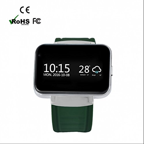 gps Smart Uhr Android Smartwatch,Google Voice Search Frontkamera Browser Wetter Kalender Rechner