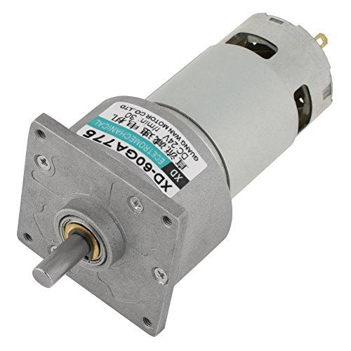 DC12V / 24V 35W Mini-DC-Getriebemotor Metall Geschwindigkeit einstellbar großen Drehmoment Motor CW/CCW(24 V 30 U/min) -