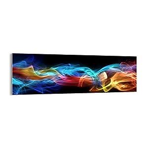 Bild auf Glas – Glasbilder – Einteilig – Breite: 90cm, Höhe: 30cm – Bildnummer 2171 – zum Aufhängen bereit – Bilder – Kunstdruck – GAB90x30-2171