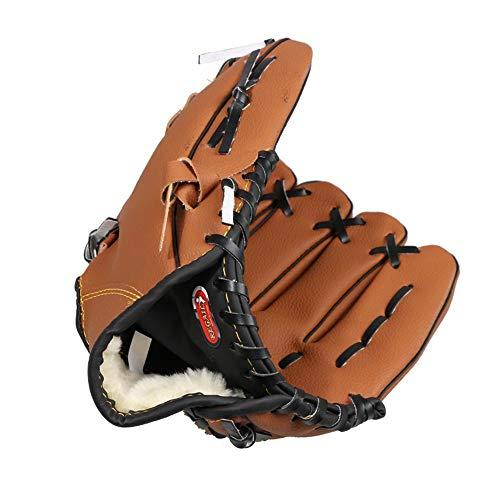 Baseball Handschuh, Sporthandschuh Mitten Softball Catcher's Mitt 12,5 Zoll für Erwachsene Jugend Kinder