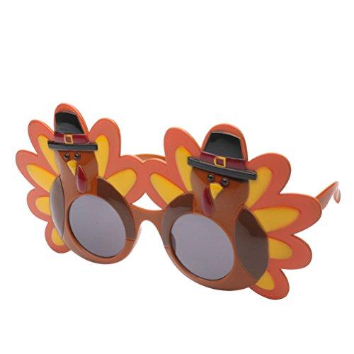 Good Night Truthahnförmige Sonnenbrille Cartoon Gläser für Glücklich das Erntedankfest Kostüm-Party