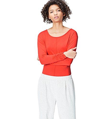 find. YG 8 t shirt damen, Rot (Sport Red), 38 (Herstellergröße: Medium)