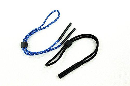 2pcs 2pcs Anteojos de seguridad Correa Sport Gafas de sol Gafas Cuerda Cadena Negro + azul