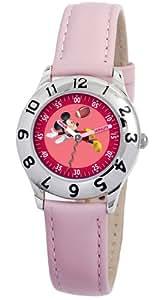 Disney Mädchen-Armbanduhr Mickey Mouse Lernuhr rosa
