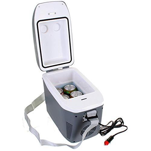 Refroidisseur de Voiture Portable Refroidisseur de Voiture Camping Mini-réfrigérateur électrique 12V CC, Stockage de Lait Frais/Fruits / légumes/Repas de Viande/Pique-Nique/Camping, Gris, 1PCS