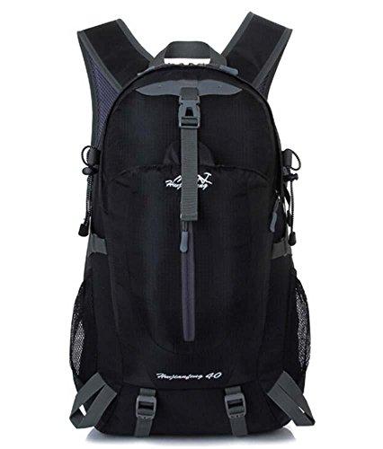 ShangYi Sport viaggi zaino outdoor trekking zaino campeggio ciclismo impermeabile sport borse per uomini e donne 40L , Black Black