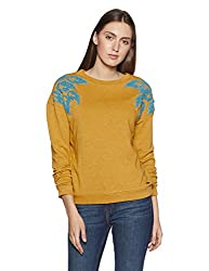 VERO MODA Womens Cotton Sweatshirt (10195363_Harvest Gold_L)