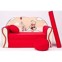 Kindersofa Kinder Sofa Couch Baby Schlafsofa Kinderzimmer Bett gemütlich verschidene Farben und motiven