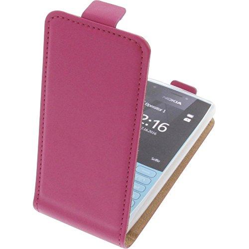 Tasche für Nokia 216 Smartphone Flipstyle Schutz Hülle pink