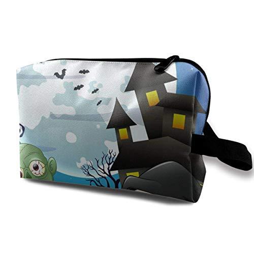d Skelette Multifunktionskoffer Kulturbeutel Reisemakeup Kosmetiktaschen ()