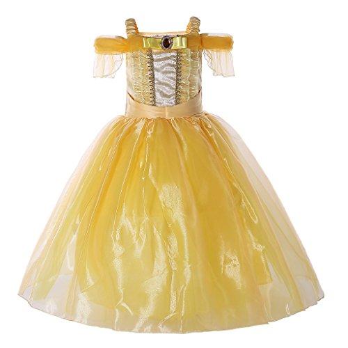 Pettigirl Niñas Disfraz Princesa Vestidos Viste a Party Fancy Vestidos 6 años