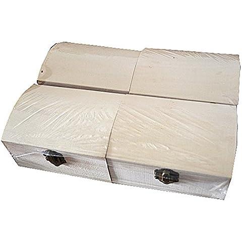 4 cajas de madera con baúl para decorar pintar decoupage