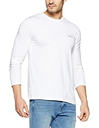 Monte Carlo Mens Solid Regular Fit T-Shirt (217039917-4_Yellow_40)