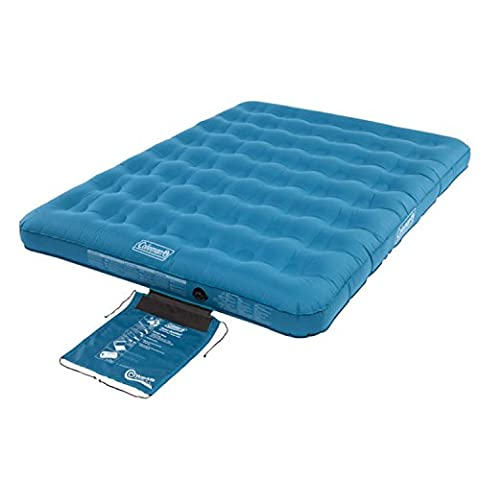 Coleman Lightweight PVC Extra Durable Double Camping Airbed with Wrap 'n' Roll Carry Bag, Blue