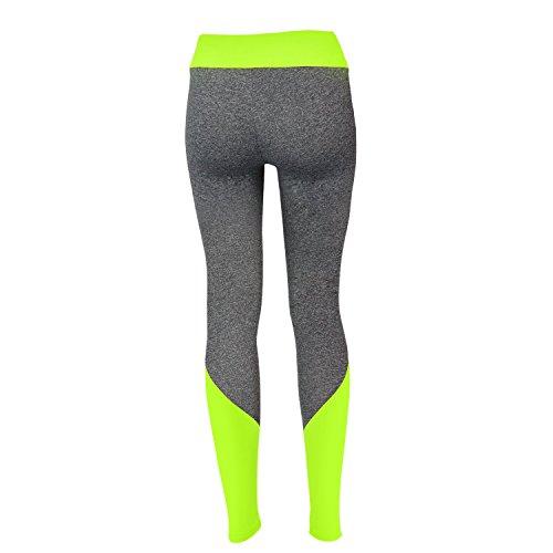 Glamexx24 Damen Workout Sporthose Yoga Pants Fitness Jogginghose Training Leggings Stretch Hose NeonGruen new