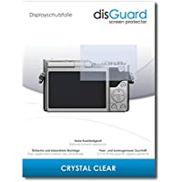 [2 Pack] Panasonic Lumix DC-GX800 Screen Protector Film disGuard® [Crystal Clear] Invisible, Transparent, Clear / Scratch Resistant, Bubble-Free Install, Anti-Fingerprint, Anti-Scratch / Film, Protector Film, Screen Guard