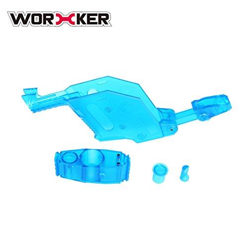 15000P Worker Short Sword Cover Rahmen Deckel Anbauteile für Nerf N-Strike Elite Stryfe - Transparent Blau