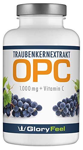 OPC Traubenkernextrakt - 360 Kapseln - 1000mg OPC (95%) pro Tagesdosis - Französischen Weintrauben - Laborgeprüft ohne unerwünschte Zusätze hergestellt in Deutschland