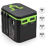 Universal Reiseadapter, Reisestecker Adapter Stromadapter Stecker Ladegerät Ladeanschlüsse mit USB-Ports Reiseadapter Weltweit für 150 Ländern USA, UK, Euro, AUS Standard